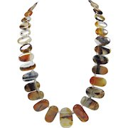 Graduated Montana Moss Agate Necklace