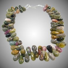 Natural Tourmaline Cabochon Necklace