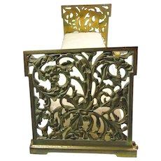 Art Nouveau Adjustable Bookends