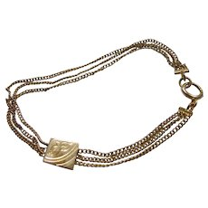 Bracelet or Anklet  From Gold Filled Watch Chain