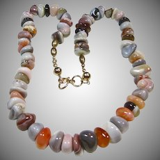 Botswana Agate Chip Necklace