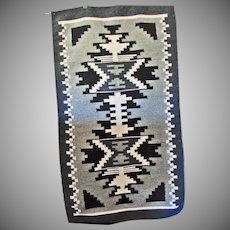 Native American Two Grey Hills  Rug in shades of Grey and Black