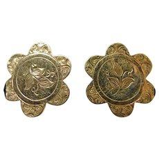 Victorian Gold Over Brass Cuff Links