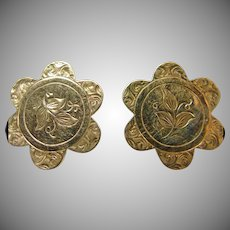 Victorian Gold Over Brass Cuff Links