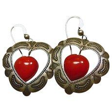Sterling Silver Heart Shape Earring for Pierced Ears