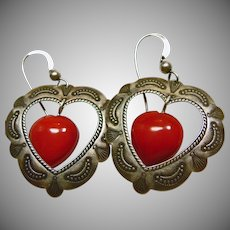 Sterling Silver Heart Shape Earring for Pierced Ears
