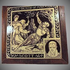Rare Tile from Series  'Authors and their works'  by  John Moyr Smith for Minton Hollins