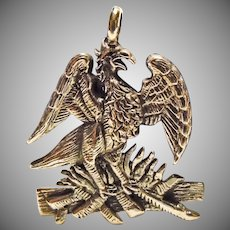Sterling Silver Charm of Phoenix Rising from Ashes