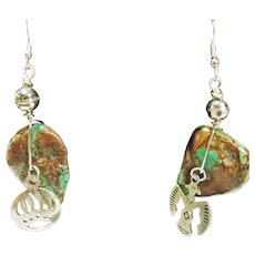 Sterling Silver Kingman Turquoise Earrings