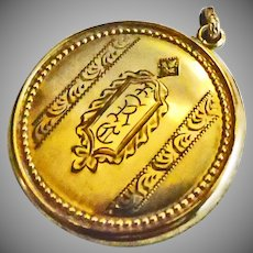 Vintage Gold Over Brass Locket.