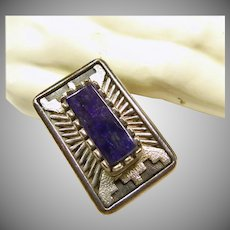Mitchell Toney One of a Kind Sterling Silver and Sugilite Ring