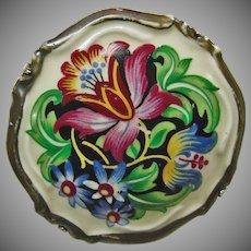 Rosenthal Painted Porcelain Brooch