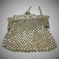 German Silver Art Nouveau Mesh Purse
