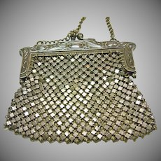 German Silver Art Nouveau Mesh Purse