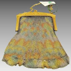 Whiting and Davis Enamel on Metal Mesh Purse