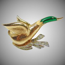 Jomaz Mallard Duck Brooch