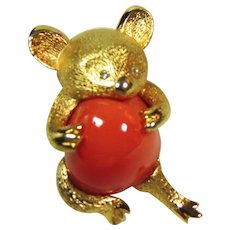 Rare Eisenberg Bear Pin