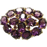 Stunning Purple Glass Brooch