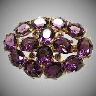 Stunning Purple Glass Brooch