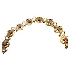 Art Nouveau Gold Over Brass Bracelet