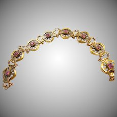 Art Nouveau Gold Over Brass Bracelet