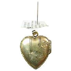 Heart Shape Victorian Gold Filled Locket