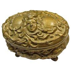 Art Nouveau Gilded Dresser Box