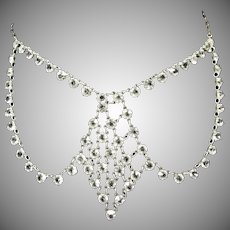 Festoon Style Open Back Crystal Necklace