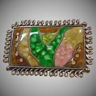 Glass Mosaic Brooch