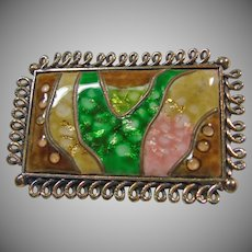 Glass Mosaic Brooch