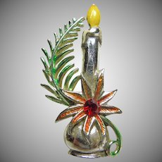 Christmas Candle Pin