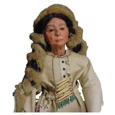 Handmade Artist Doll of Native American Indian Chief Sitting Bull