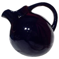 Vintage Medalta Deep Cobalt Blue Ball Pitcher