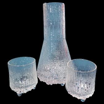 Iittala Ultima Thule Carafe & Shot Glasses ~ Tapio Wirkkala
