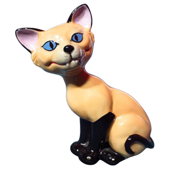 """Wade Porcelain Disney Figure - Si The Siamese Cat - Lady & The Tramp 5 & 1/2"""""""