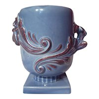 Vintage Red Wing Luster Blue Model 1107 Vase