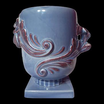 Vintage Red Wing Luster Blue Model 1107 Vase