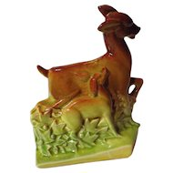 Vintage McCoy Doe and Fawn Planter