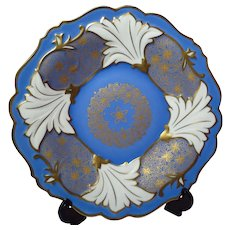 Weimar Porcelain Iris Decorated Plate