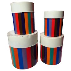 Retro 1960's San Remo by Imperial Striped Graduated Canister Set