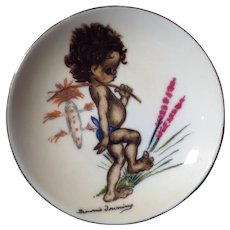 Vintage Brownie Downing Indigenous Australian Child Plate