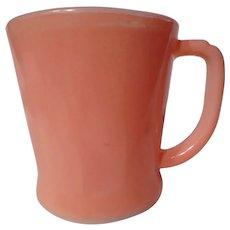 """Vintage Fire King Pink """"D"""" Handle Mug"""