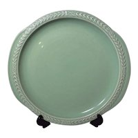 Universal Cambridge Laurella Jade Green Cake Plate