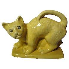 Brush McCoy Pottery Figural Cat Planter