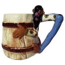 Vintage 1940's Twin Winton Figural Hillbilly Mug