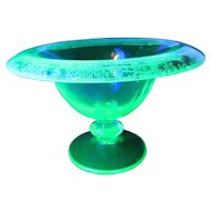 Tiffin Glass Deerwood Rolled Edge Comport