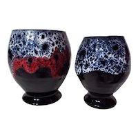 Listvinahus Icelandic Pottery Lava Vase Pair by Einar Gudmundsson