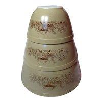 Pyrex Forest Fancies Three Piece Mixing Bowl Set