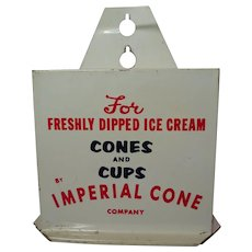 Imperial Cone Tin Ice Cream Cone Dispenser