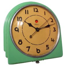 "Vintage Art Deco Jadite Telechron Electric Wall Clock ""The Administrator"""